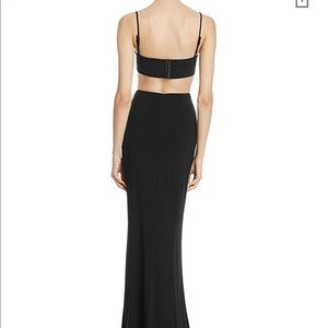 Laundry by Shelli Segal Black Cut Out Gown Sz 14